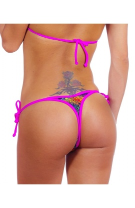 Serpent Rose Thong